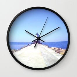 Scenic Lighthouse Wall Clock