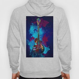 Sounds of music. Guitar. Hoody
