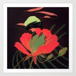 Phoenix Flower Art Print