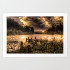 Loch Ard at Sunset Art Print