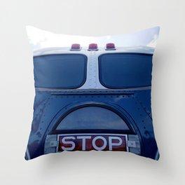 VINTAGE - Classic Vintage Passenger Bus Throw Pillow