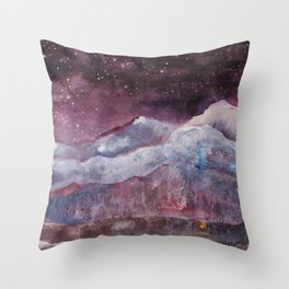 Far Apart Under the Same Sky Throw Pillow