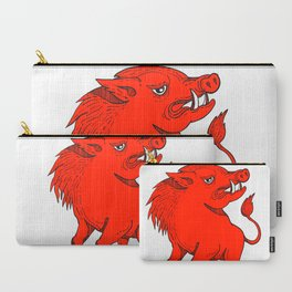 Red Razorback Doodle Art Carry-All Pouch