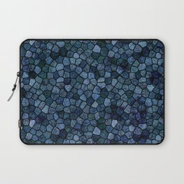 Blue Lagoon Midnight Rippled Water Abstract Laptop Sleeve