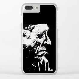 BUKOWSKI collage - The FREE SOUL quote Clear iPhone Case