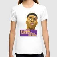 lakers T-shirts featuring d'loading by dmrz