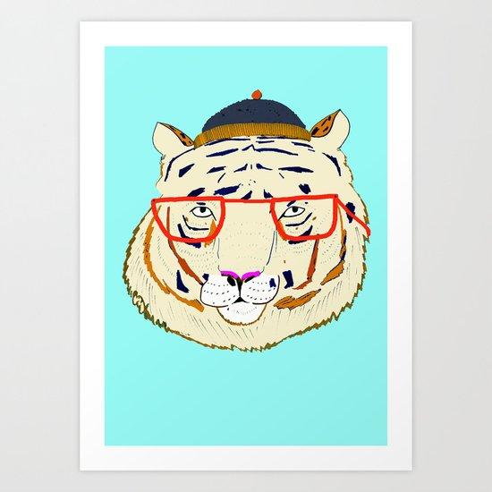 Rad Tiger Art Print