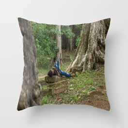 Afternoon Nap Near Baphuon Temple, Angkor Thom, Siem Reap, Cambodia Throw Pillow