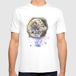 Star War Art Painting The Death Star T-shirt