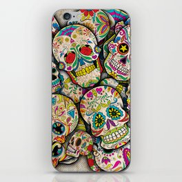 Sugar Skull Collage iPhone Skin