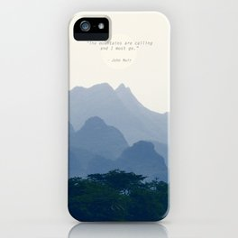 Mountains calling iPhone Case