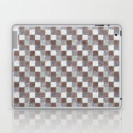 Rustic Brown Gray Beige Patchwork Laptop & iPad Skin