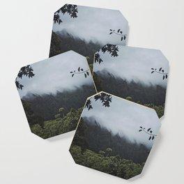 Foggy Oahu Green Coaster