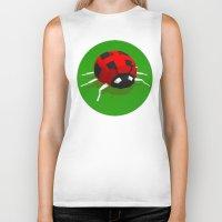 ladybug Biker Tanks featuring LADYBUG by Ken Forst