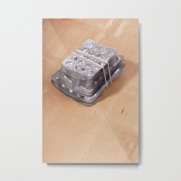 Blister pack addiction concept Metal Print