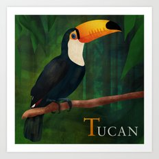ABC Poster  T - Tucan Art Print