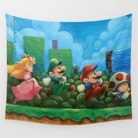 super mario Wall Tapestries featuring Super Mario Bros 2 by Josh J Dunbar