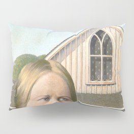 Grant Wood, American Gothic 1930 Artwork for Wall Art, Prints, Posters, Tshirts, Men, Women, Youth Pillow Sham