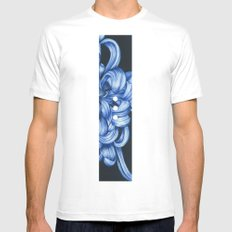 Melancholy White LARGE Mens Fitted Tee