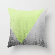 NEON NATURE | Green Throw Pillow