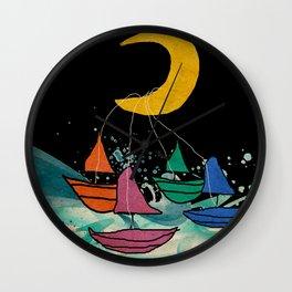 Moonlight Regatta Wall Clock