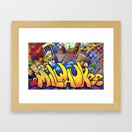 MILWAUKEE: heartMilwaukee Framed Art Print