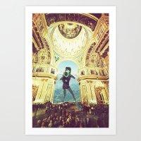 scuba Art Prints featuring scuba by Caroline A