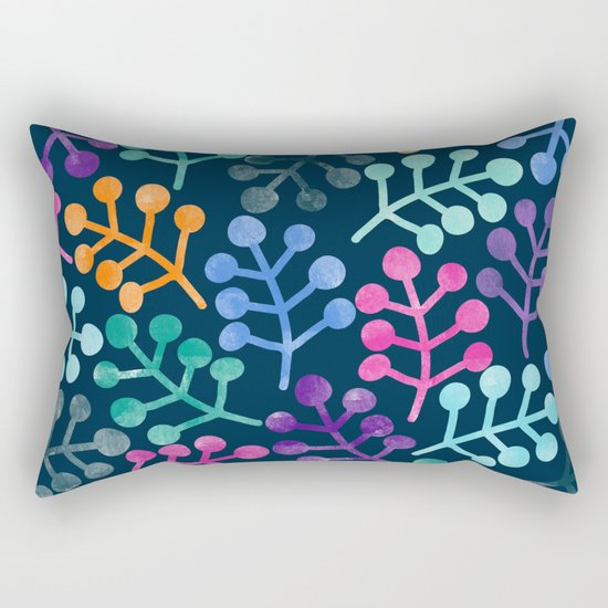 Colorful Leaves XII Rectangular Pillow