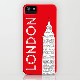 I Miss London iPhone Case