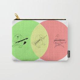Keytar Platypus Venn Diagram - GYR Carry-All Pouch