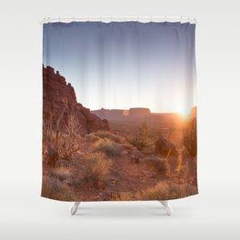 Setting Desert Sun Shower Curtain