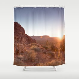 Setting Desert Sun Shower Curtain