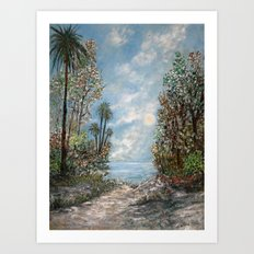 Almost at the Shore! Art Print