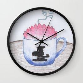 Zen Tea Wall Clock