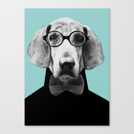 Mr Italian Bloodhound the Hipster Canvas Print