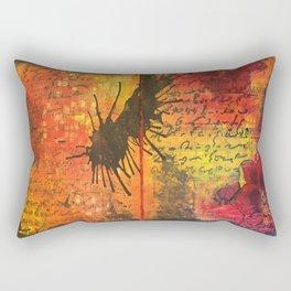 Symphony In Red Rectangular Pillow