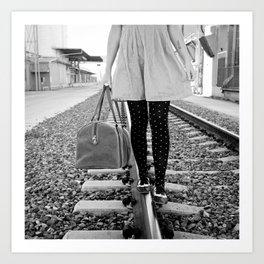 traveling shoes Art Print