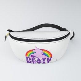 Funny Death Metal Unicorn Rainbow (vintage distressed look) Fanny Pack