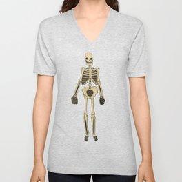 Skeleton Inktober Unisex V-Neck