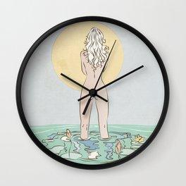 Beauty near the water Wall Clock
