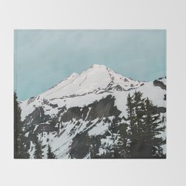 Turquoise Sky Mt. Baker Throw Blanket