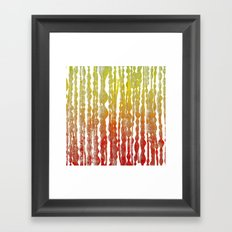 psychedelic stripes - red Framed Art Print