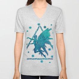 Turquoise  Fairy Unisex V-Neck