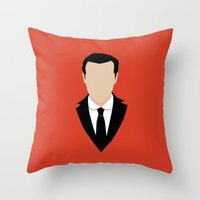 moriarty Throw Pillows featuring 3 Jim Moriarty by Alice Wieckowska