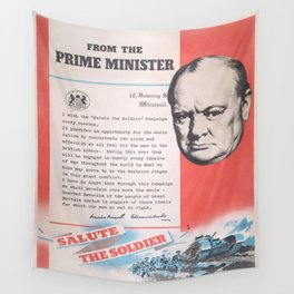 Reprint of Winston Churchill British wartime poster. Wall Tapestry