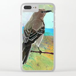 Mockingbird on a Wire Fence - In The Morning Clear iPhone Case