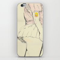 butt iPhone & iPod Skins featuring Mr Sparkle Butt by withapencilinhand