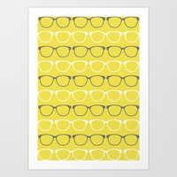 glasses Art Prints featuring Glasses by C Designz
