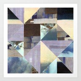 Landscape Collage Art Print