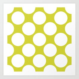 Polka Dots Green Art Print